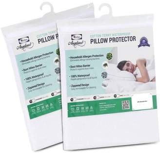Furinno Angeland Terry Cloth Waterproof Pillow Protector, Pack of 2