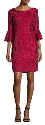 Alex Evenings Petite Floral Illusion Sleeve Dress