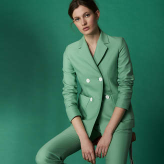 Sandro Almond green tailored jacket