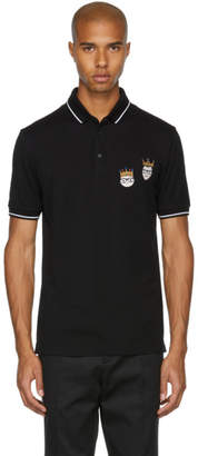 Dolce & Gabbana Black King Designers Polo