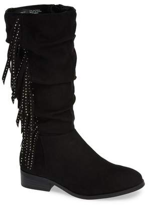 4a6a85946ab Steve Madden Jfringly Slouchy Fringed Boot (Toddler