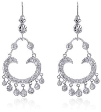 14K White Gold 0.60 ct. Antique Style Chandelier Diamond Earrings