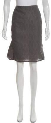 Saint Laurent Textured Pencil Skirt