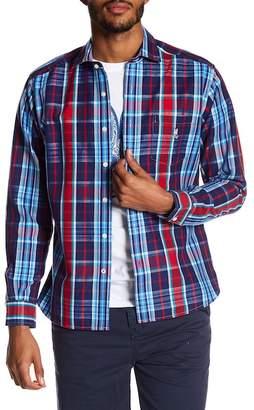 Psycho Bunny Long Sleeve Flannel Regular Fit Sport Shirt