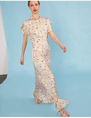 Cynthia Rowley Talia Flutter Sleeve Dress
