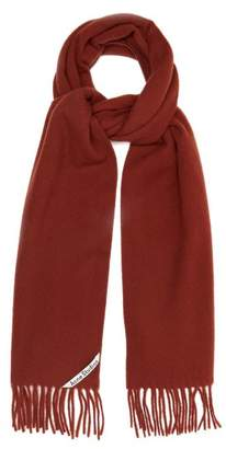 Acne Studios Canada Fringed Wool Scarf - Womens - Brown