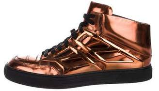 Alejandro Ingelmo Metallic High-Top Sneakers