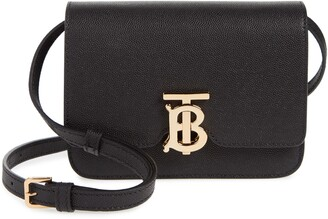 Burberry Mini TB Monogram Grainy Leather Crossbody Bag