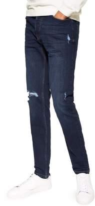 Topman Seth Rip Skinny Leg Jeans