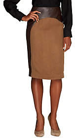 Mark of Style by Mark Zunino Faux Leather Skirt