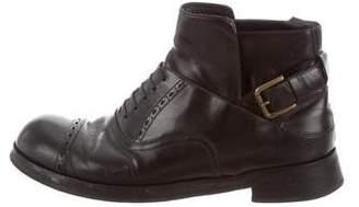 Dolce & Gabbana Brogue Cap-Toe Ankle Boots