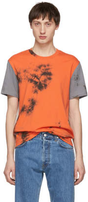 Helmut Lang Grey and Orange 3 Combo T-Shirt