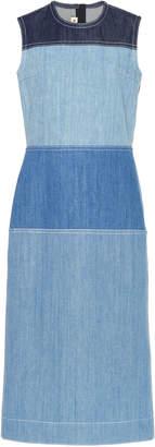 Marni Sleeveless Cotton Denim Midi Dress