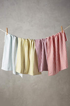 Anthropologie Baker Stripe Dish Towel Set