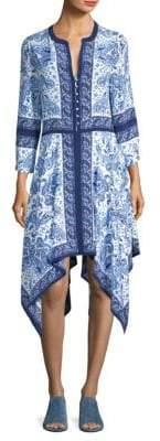 Joie Cyntia Scarf Printed Silk Handkerchief Dress