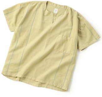 Men's Bigi (メンズ ビギ) - ADITIONAL [リメイク商品]ノーカラーシャツ/製品染め メンズ ビギ シャツ/ブラウス