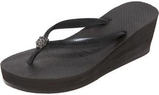 Havaianas High Fashion Poem Wedge Sandals $54 thestylecure.com