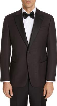 Emporio Armani Trim Fit Houndstooth Wool Dinner Jacket