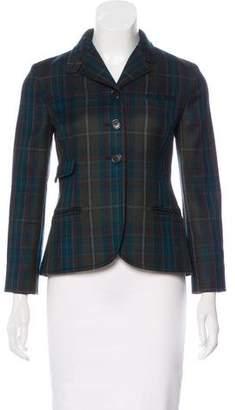 Miu Miu Wool Check Blazer