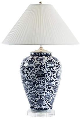 Chelsea House Queens Gate Vase Table Lamp - Blue/White