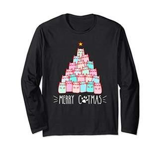 Merry catmas xmas tree Tshirt - Xmas Kitten T Shirt Gifts