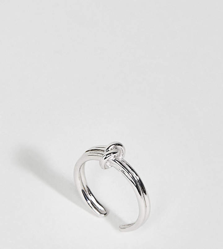– Forget Me Knot – 18-karätig versilberter Ring