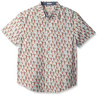 Original Penguin Men's Short Sleeve Water Ski Girls Slub Woven Shirt