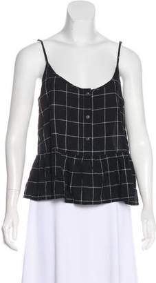 Current/Elliott Sleeveless Plaid Top