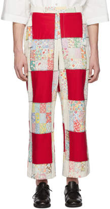 Off-White Bode and Red Patchwork Side-Tie Trousers