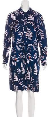 Diane von Furstenberg Print Jersey Dress w/ Tags