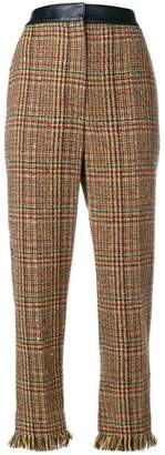 Sonia Rykiel checked straight-fit trousers