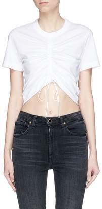 Alexander Wang Drawstring front cropped T-shirt