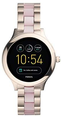 Fossil Q Women's Venture Gen 3 Pink Stainless Steel and Acetate Touchscreen Smartwatch FTW6010