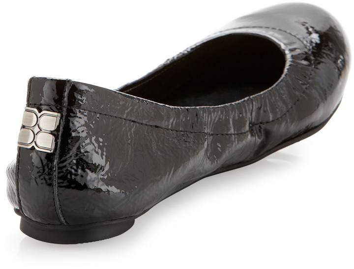 BCBGMAXAZRIA Molly1 Patent Leather Ballet Flat, Black