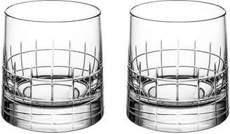 Christofle Graphik Crystal Old Fashioned Glasses (Set of 2)