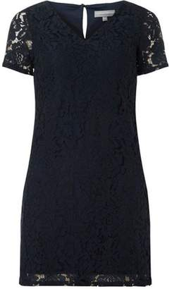 Dorothy Perkins Womens Petite Navy Lace Shift Dress.