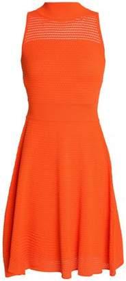 Milly Draped Jacquard-Knit Dress