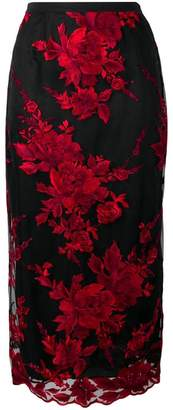 Antonio Marras floral embroidered pencil skirt