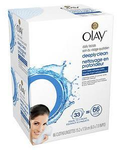 Olay Daily Deeply Clean 4-in-1 Water Activated Cleansing Face Cloths, 2 pk
