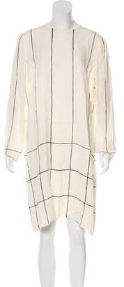 Tory Burch Long Sleeve Knee-Sleeve Dress