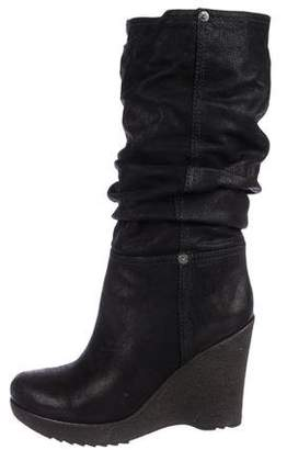 Prada Sport Wedge Mid-Calf Boots
