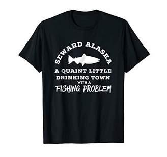 Seward Alaska Drinking Town Fishing Problem TShirt