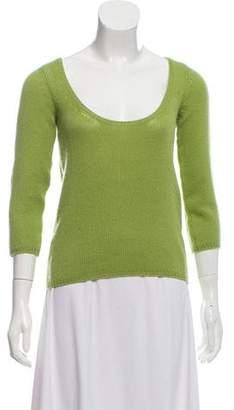 Prada Scoop Neck Cashmere Sweater