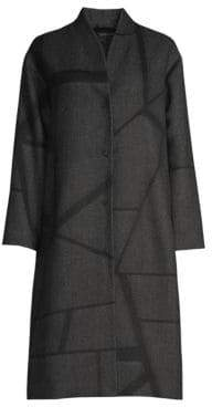 Eileen Fisher Jacquard Knee-Length Coat