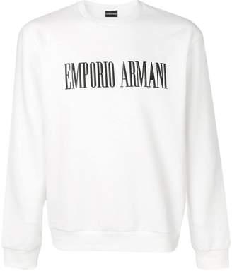 Emporio Armani embroidered logo sweatshirt