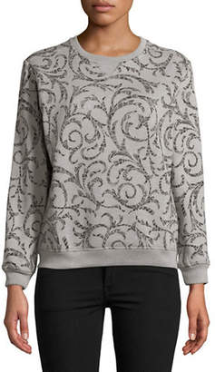 Karen Scott Petite Shaded Scroll Sweatshirt