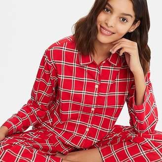 Uniqlo Women's Flannel Long-sleeve Pajamas