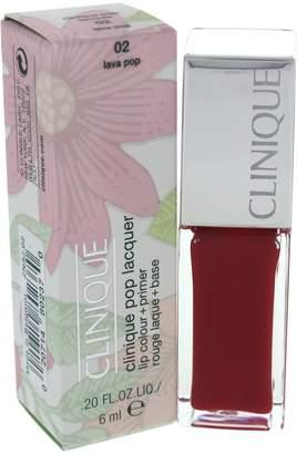 Clinique Lacquer Lip Color + Primer No. 02 Lava Pop, 0.2 Ounce