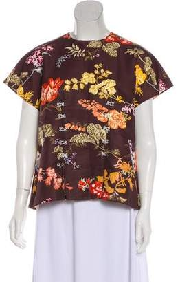 Rosie Assoulin Printed Short Sleeve Top