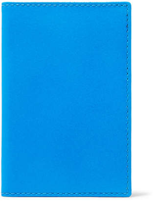 Comme des Garcons Super Fluo Neon Leather Cardholder - Bright blue